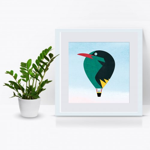 BIRD BALLOON ~ DIGITAL PRINTS