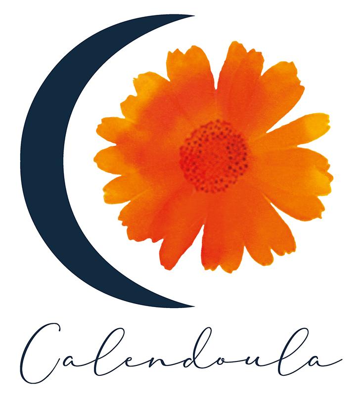 Calendoula logo, graphic design, teresa arroyo corcobado